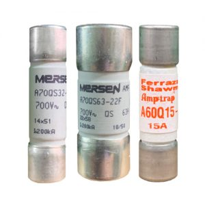 Euro Ultra Rapid Fuses French Ferrule - Mersen - Powerfuse.com